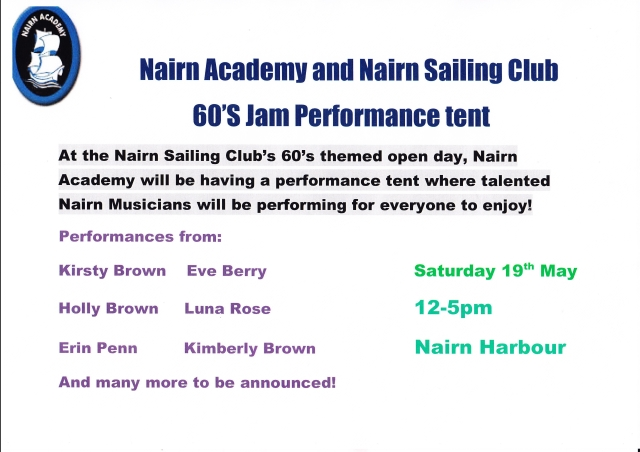 60s Jam Performance tent event