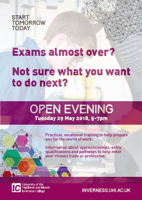 Inverness UHI Open Eve