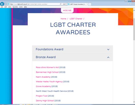 LGBT Charter Awardee