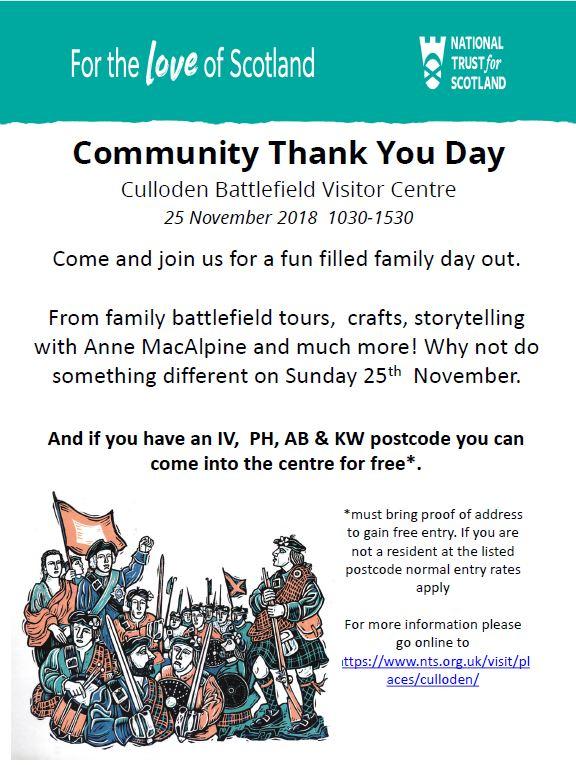 Culloden Battlefield Thank You day