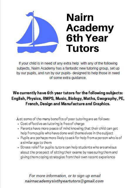 S6 tutors